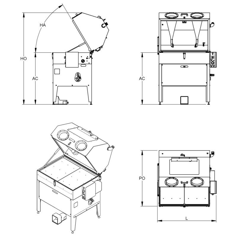 Lavapezzi  / Lavametalli manuale Teknox LAVAPEN X