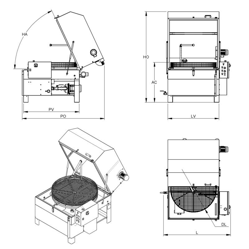Lavapezzi  / Lavametalli a cesto rotante Teknox P MEDIUM