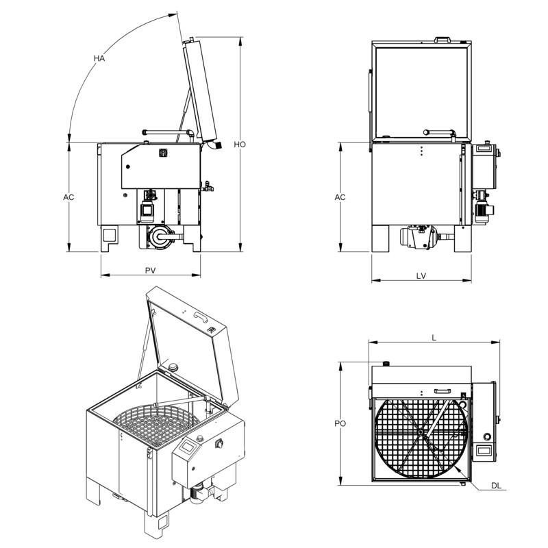 Lavapezzi / Lavametalli Teknox SIMPLEX SMALL
