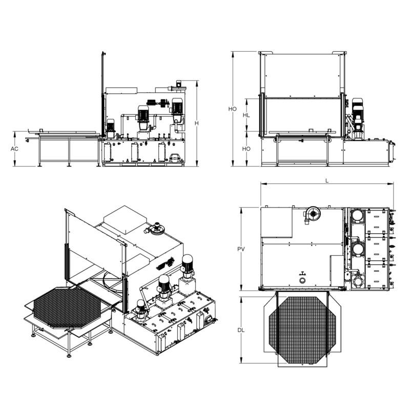 Lavametalli / Lavapezzi Robur 3B