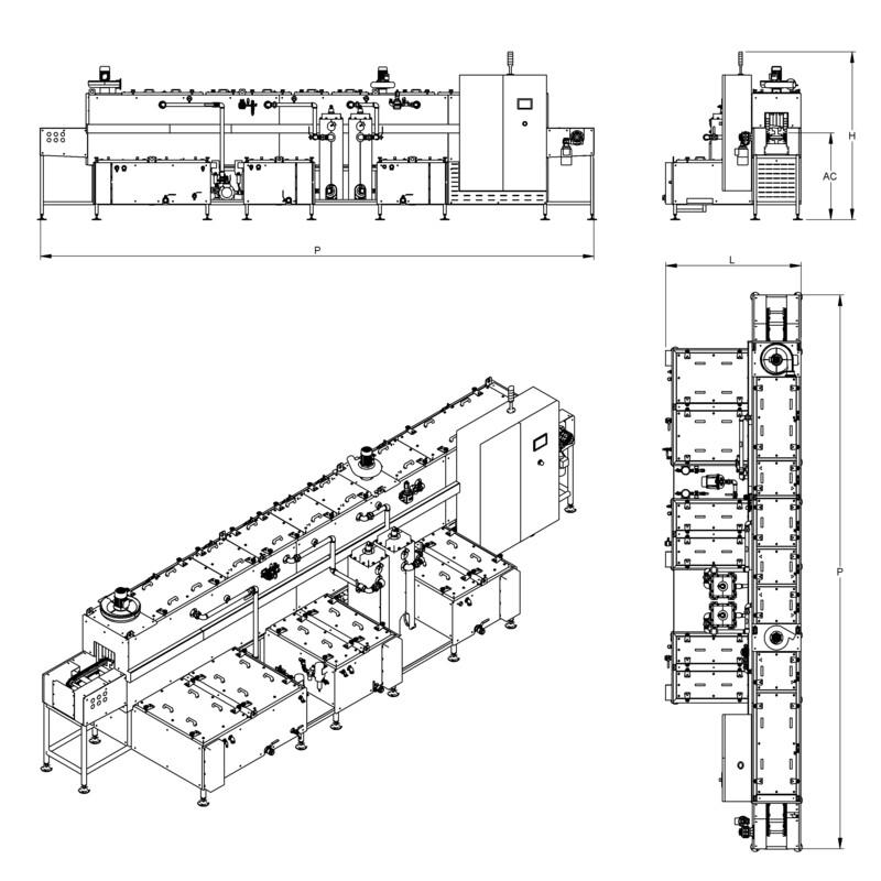 Lavapezzi / Lavametalli Teknox TUNNEL L