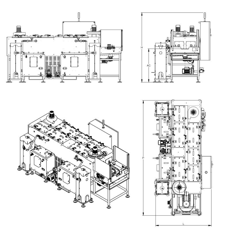 Lavapezzi / Lavametalli Teknox TUNNEL O