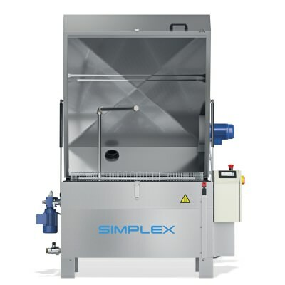 Simplex 100 and Simplex 120 Parts washers with rotary basket