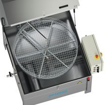 P100 and P120 parts washers with rotary basket